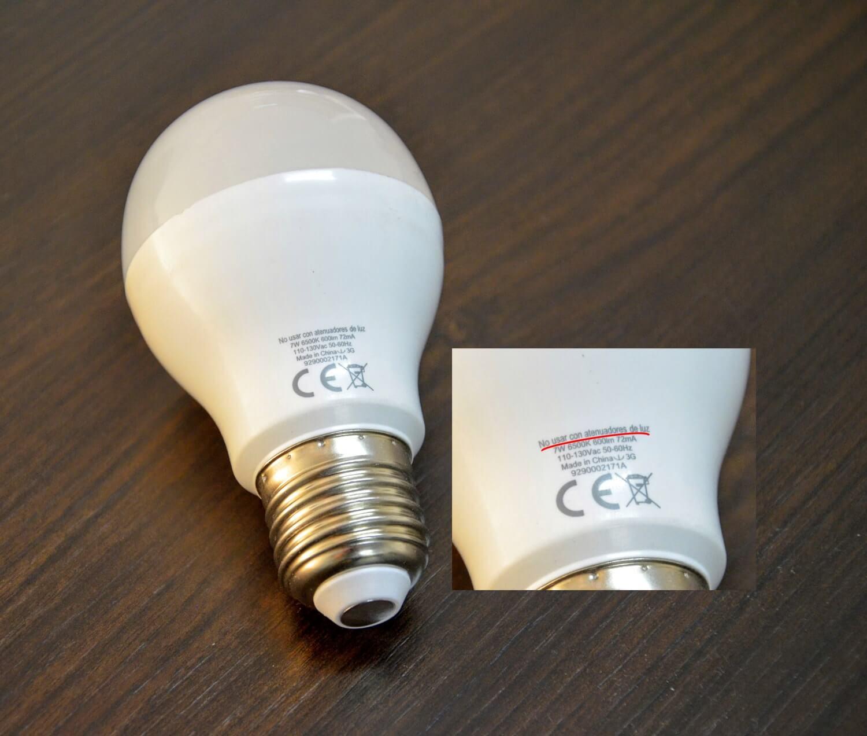 Não dimerizável, comprar lâmpadas