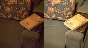 Dimmer iluminação para leitura