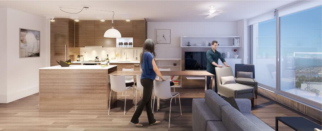 iluminação na arquitetura do apartamento