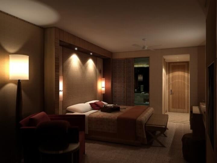 iluminação para o quarto