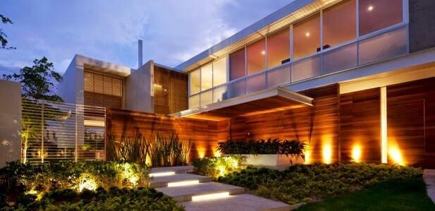 iluminação na arquitetura chão