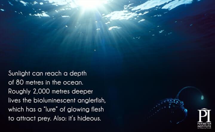 luz no oceano
