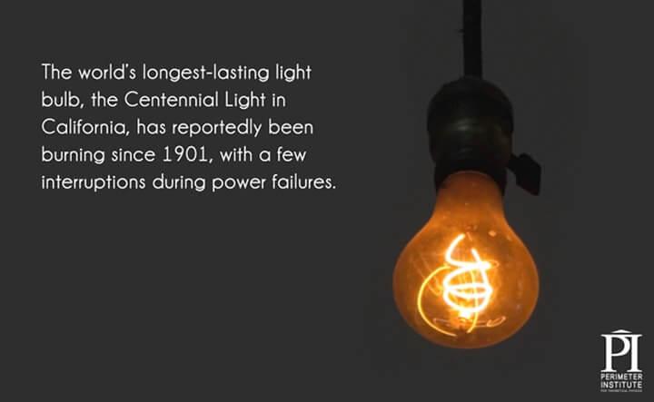 lâmpada centenária