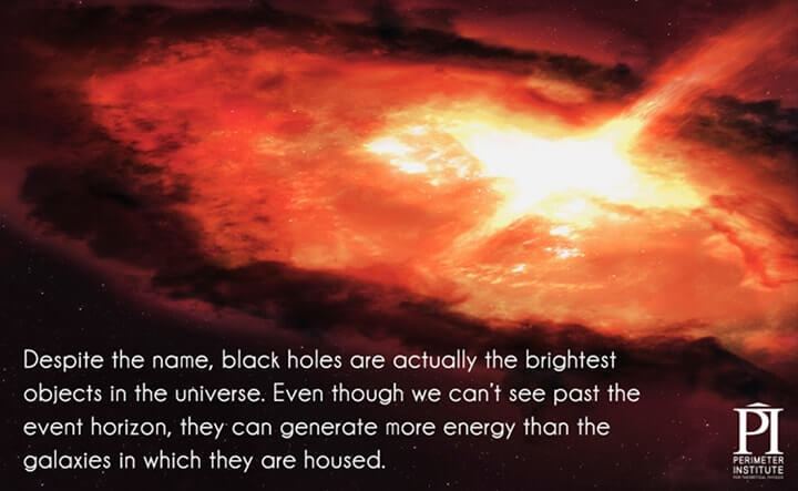 luz em buracos negros