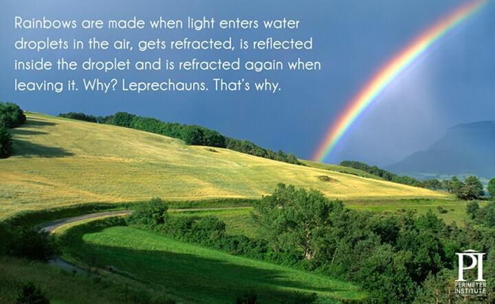 luz no arco-íris