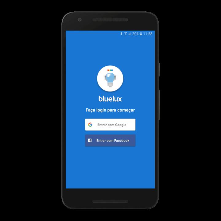 login Aplicativo Bluelux