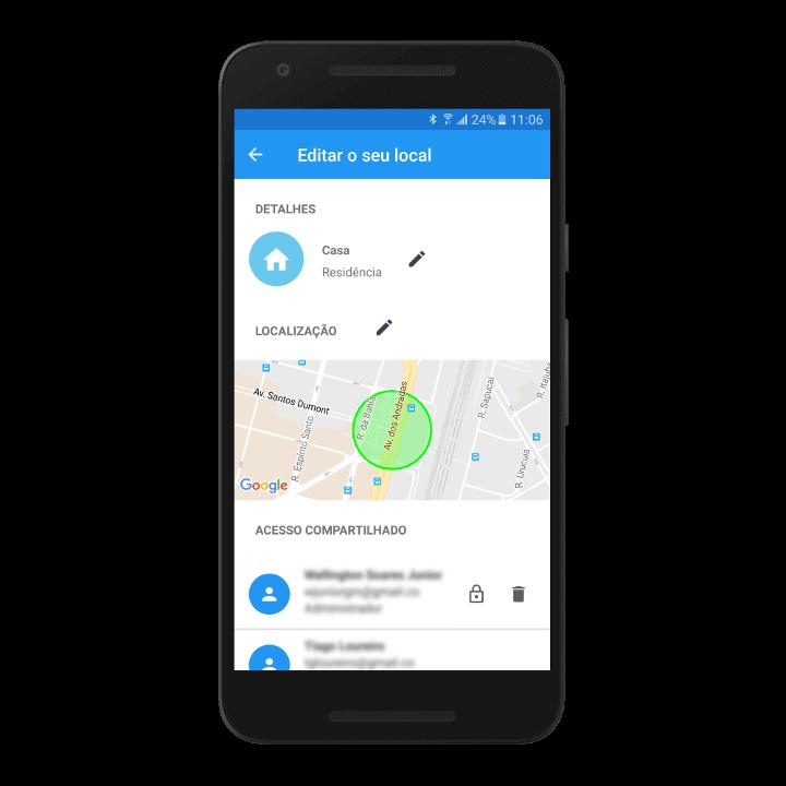 locais Aplicativo Bluelux