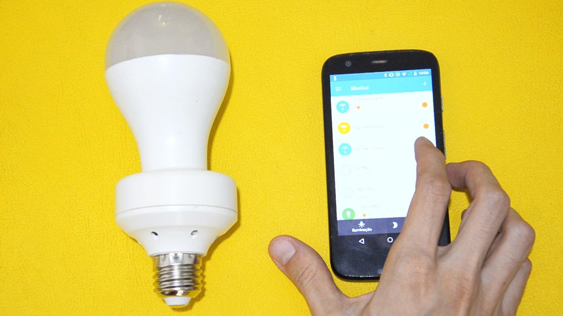 Aplicativo para controlar lâmpadas