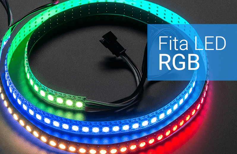 fita led rgb colorida